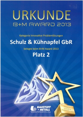 Baustoff und Metall Award 2013