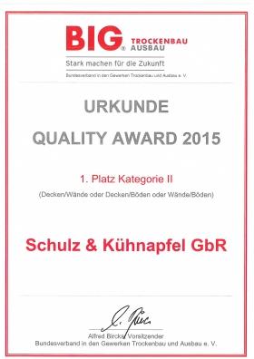 QUALITY AWARD 2015