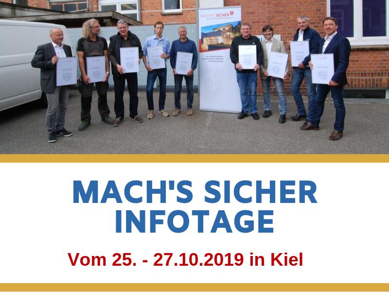 Mach's Sicher Infotage vom 25.-27.10.2019 in Kiel