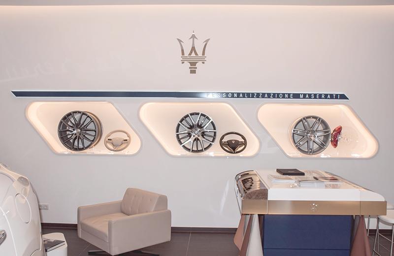 Ausbauarbeiten für einen Maserati Showroom