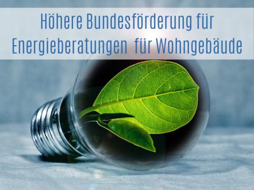 Höhere Bundesförderung Für Energieberatung Für Wohngebäude